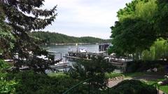 Friday Island Marina, Public Park Stock Footage