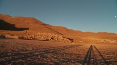 Altiplano, Andes, Bolivia in the early morning Stock Footage