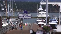 Port of Friday harbor ,marina Stock Footage
