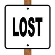 Lost Square Sign - stock illustration