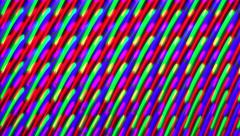 LED Display Light Trails as Technology Background - stock footage