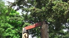 Totem pole ,Port of Friday ,San Juan Island Stock Footage