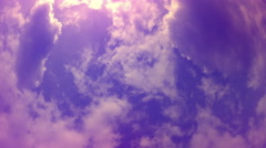 Heavenly Light Pink and Purple Clouds Stock Footage