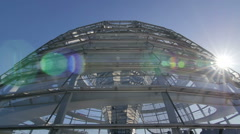 Reichstag dome parliament Stock Footage