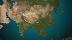 Asia 4K. Spread of the something. Epidemic, war, etc. Stock Footage