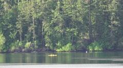 Kayaking near Shaw Island Stock Footage