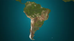 South America 4K. Spread of the something. Epidemic, war, etc. Stock Footage