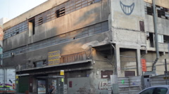 Abandoned building in south Tel-Aviv Stock Footage