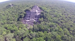 Aerial View Of kalakmul ruins - stock footage