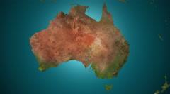 Australia 4K. Spread of the something. Epidemic, war, etc. Stock Footage