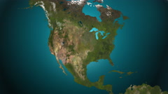 North America 4K. Spread of the something. Epidemic, war, etc. Stock Footage