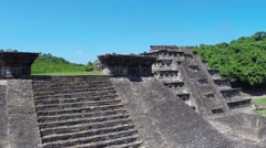 Aerial View Of tajin ruins Stock Footage