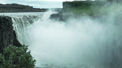 Dettifoss Waterfall ICELAND - CIRCA AUGUST, 2014 Stock Footage