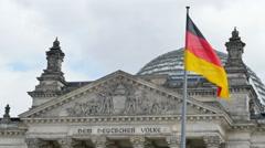Reichstag german parliament 4k Stock Footage