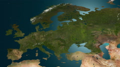 Desertification in Europe - great cataclysm, 4K animation. - stock footage