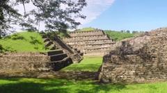 Aerial View Of tajin ruins, El Tajín, southern Mexico Stock Footage