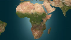 Revival of vegetation in Africa, 4K animation. - stock footage