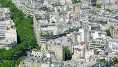 Paris rooftops from above Stock Footage