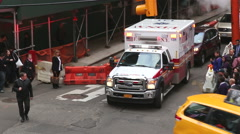 Ambulance in NYC - stock footage