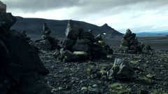 Stunning Black Basalt Rocks ICELAND - CIRCA AUGUST, 2014 Stock Footage