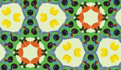 Green Seamless Pattern with Olive Shapes Stock Illustration