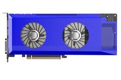 Blue video card Stock Illustration