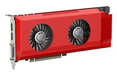 Red video card Stock Illustration