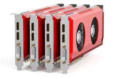 Set of red video cards Stock Illustration