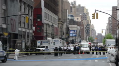 Crime scene investigation in New York City Stock Footage