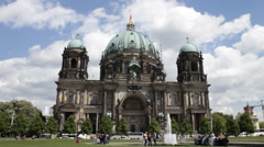 Berlin Cathedral Church 2 establishing shot Stock Footage