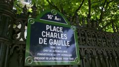 Place Charles de Gaulle in Paris, France Stock Footage