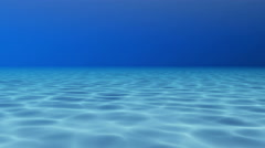 Blue Water Pool, Underwater View Stock Footage