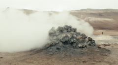 Steam Vent at NAMAFJALL, ICELAND - CIRCA AUGUST, 2014 Stock Footage