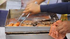Cooking Steak Stock Footage