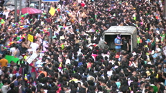 Crowd Songkran Water Street Party People Festival Thailand 8497 Arkistovideo