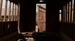 Train cemetery, Uyuni, Bolivia Stock Footage