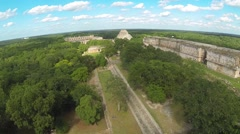 Aerial View Of uxmal ruins, Uxmal, an ancient Maya city, Mexico - stock footage