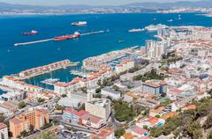 Aerial view over city of Gibraltar Kuvituskuvat