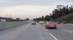San Diego to Los Angele Freeway Stock Footage