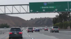 Driving from San Diego to Los Angeles 4 Stock Footage