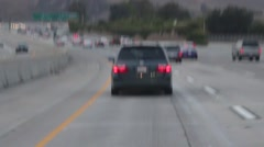 Driving on San Diego Freeway 5 Stock Footage