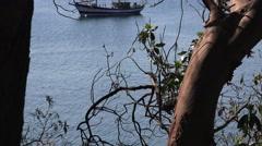 Safe harbor, sailing boat Stock Footage