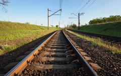 Cargo train platform at sunset. Railroad. Railway station Kuvituskuvat
