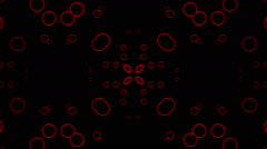 Stock Video Footage of Flashing red circles