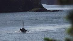 Orcas Island coming ashore Stock Footage