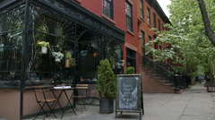 Storefront Restaurant in Boerum Hill Brooklyn - stock footage