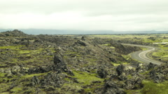 Dynamic Rock Formation Along Ring Road in ICELAND - CIRCA AUGUST, 2014 Stock Footage