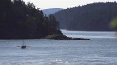 Longboat ahoy Stock Footage