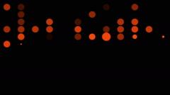 Flashing red circles Stock Footage