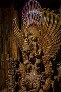 Garuda statue of the Hindu. Woodland Museum In Nakhon Pathom Stock Photos